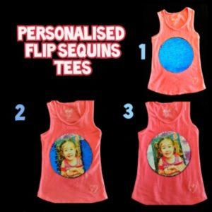 Flip Sequins Tee's